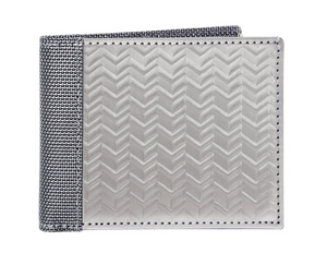 Stainless Steel Herringbone Wallet