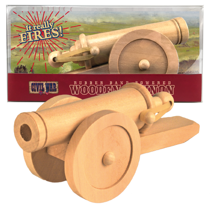 Rubber Band Powered Wooden Cannon