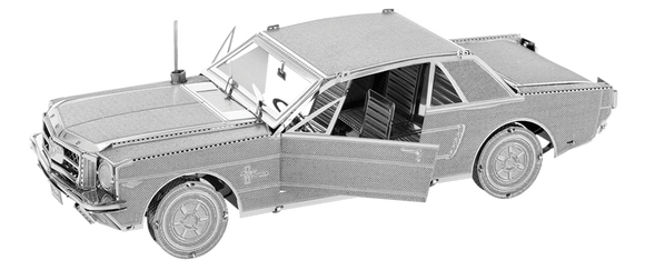 assembled 1965 Ford Mustang 3D Metal Model