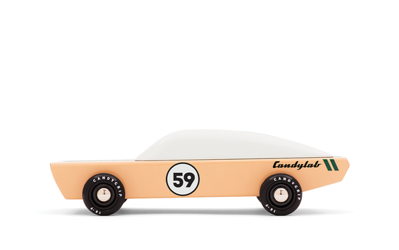 candylab toy ace beige peach car with white top 59 wooden die cast
