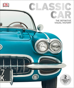 book cover classic car definitive history close up front of blue car