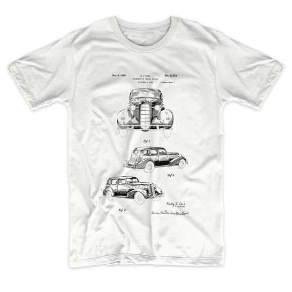 1934 Automobile Patent T-shirt