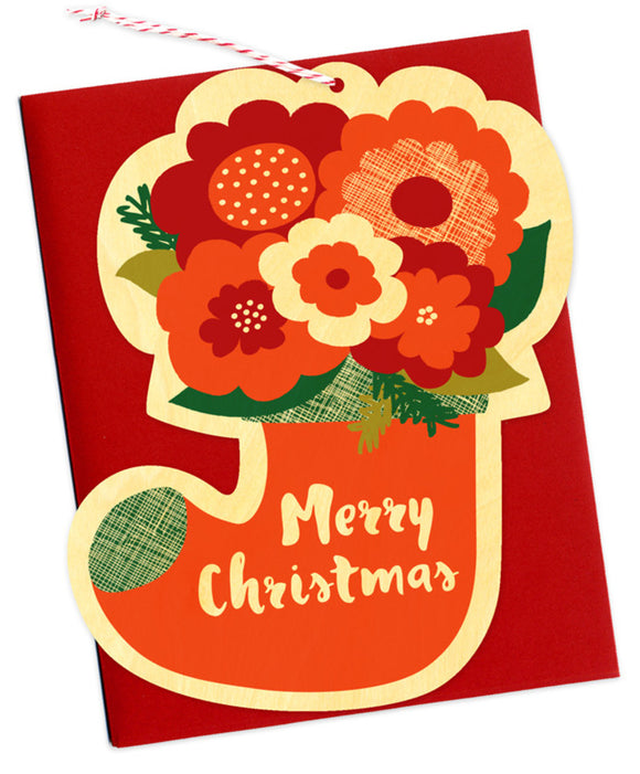 Flower Stocking Card & Ornament