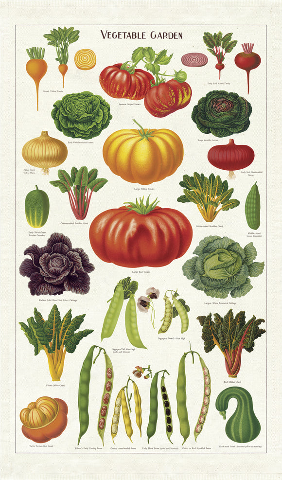 Vegetable Garden Vintage Tea Towel