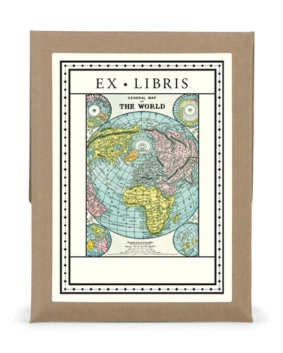 World Map Bookplate Set