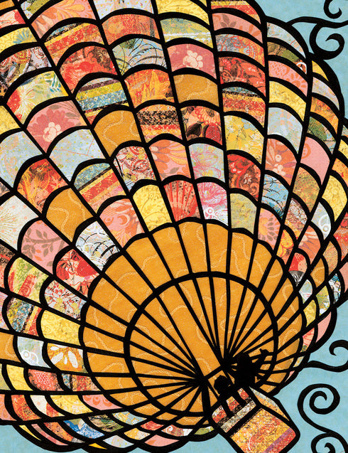 Hot Air Balloon Notecard