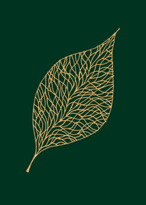 Leaf Embossed Notecard