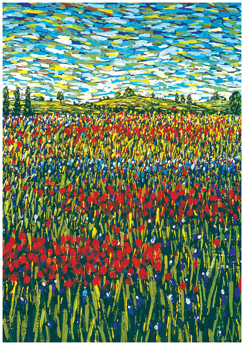 Summer Fields France Notecard