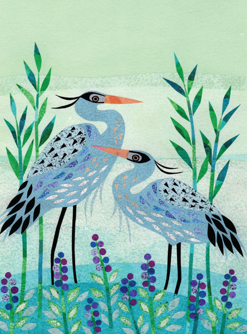 Blue Herons Notecard