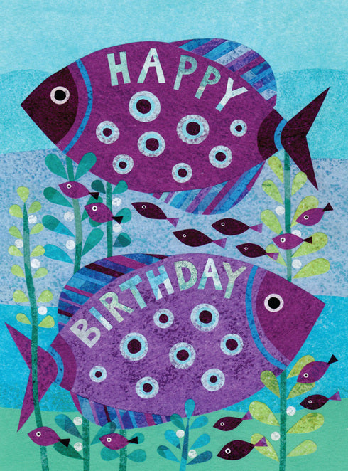 Fintastic Fish Notecard: Birthday
