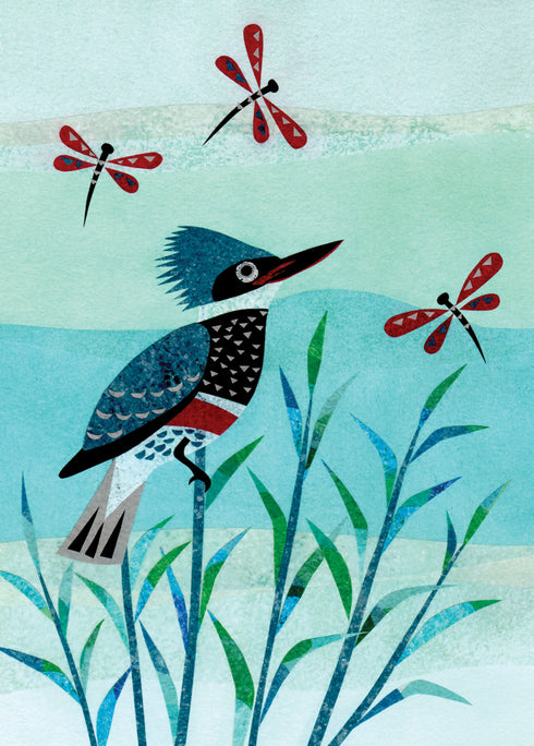 Kingfisher Notecard