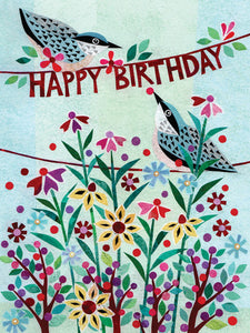 Nuthatch Birthday Notecard