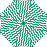 Duck Umbrella: Green Bars