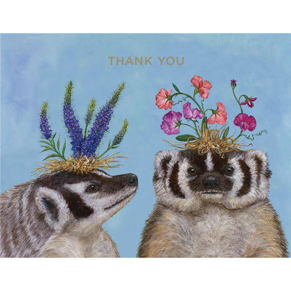 Badger Sisters Notecard