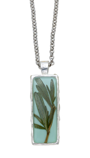 Rosemary Necklace, rectangular