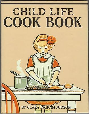 book cover child life cookbook vintage child at table cooking