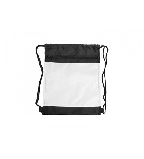 Drawstring Bag with Black Trim - Add Your Photo