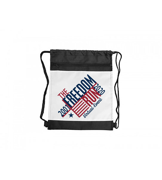 Drawstring Backpack with Black Trim - Logo