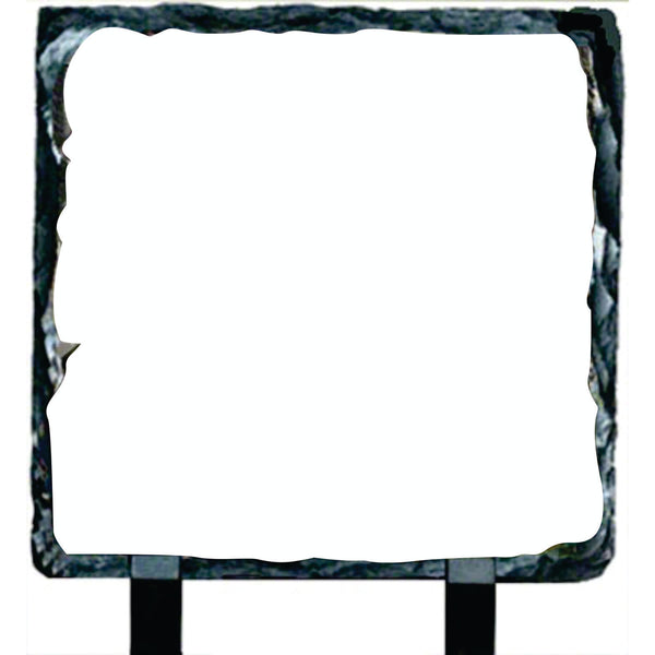 "Slate Plaque - 8"" Square w/Feet Add Your Photo!"