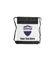 Drawstring Backpack with Black Trim - Add Text