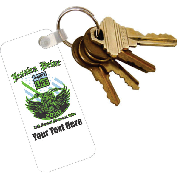 Key Tag with Ring - Add Text