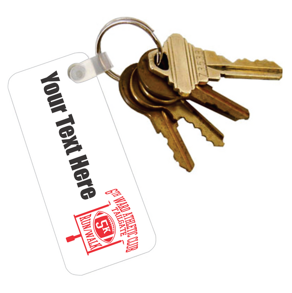 Acrylic Key Tag with Ring - Add Text