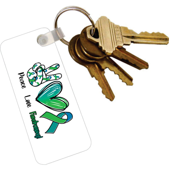 Acrylic Key Tag with Ring