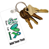 Acrylic Key Tag with Ring with Text