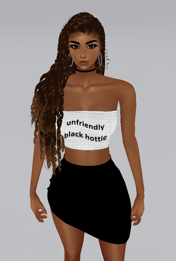 Unfriendly Black Hottie bandeau