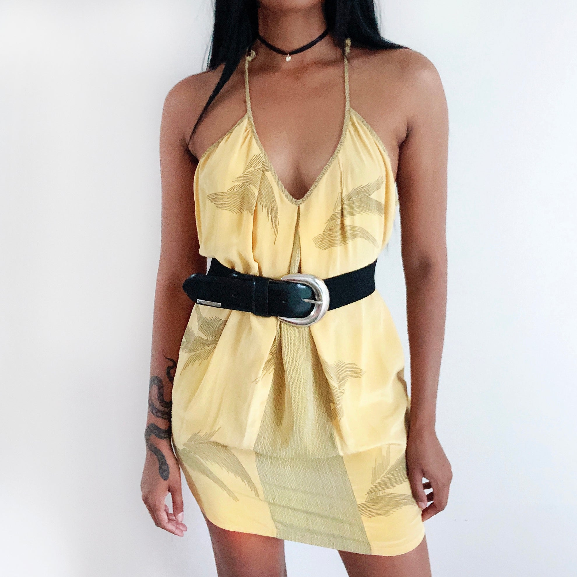 Yellow palms dress