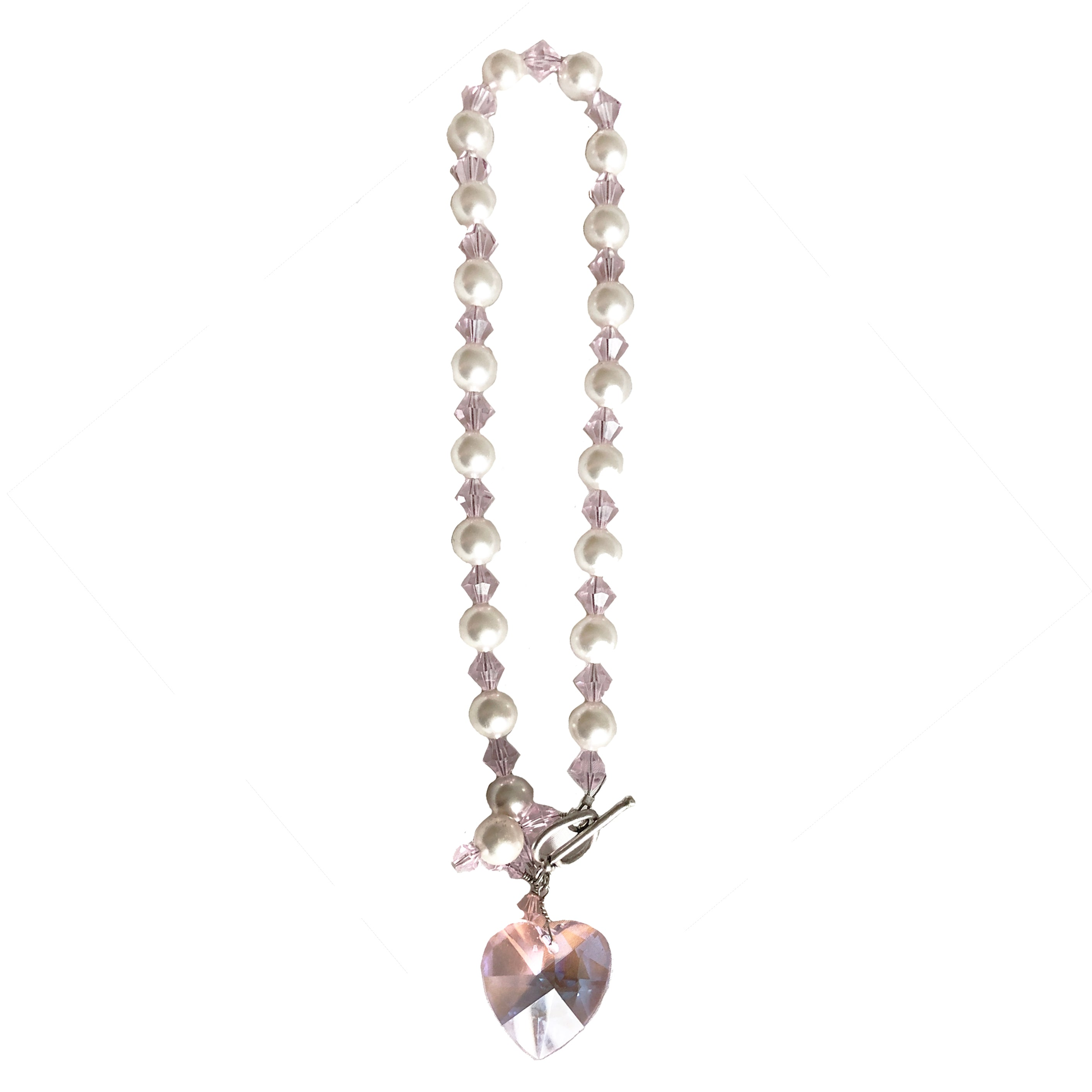 Y2K pearly pink necklace