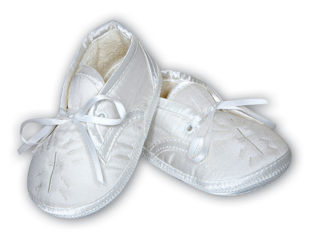 Sarah Louise Boys Christening Shoes - White