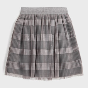 Mayoral Tulle Skirt For Girls - Silver Grey