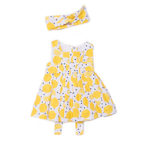 Babybol Girls Lemons Dress & Hairband