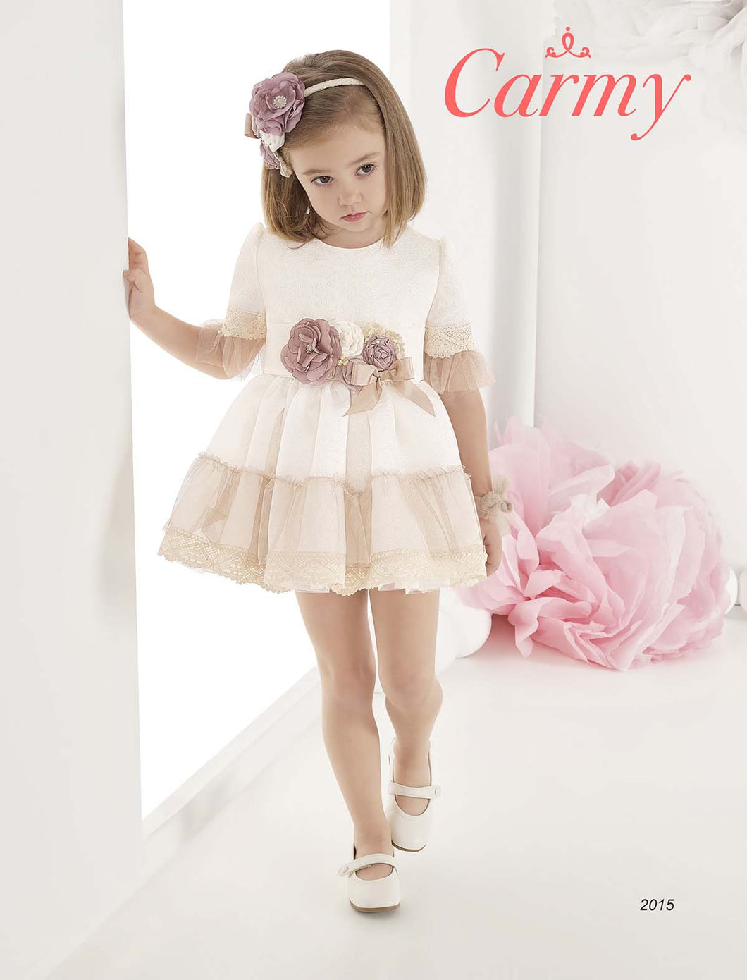 Carmy Flower Girl Dress 2015G - Ivory