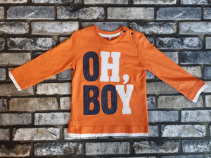 Birba Boys Orange Long Sleeve Tee
