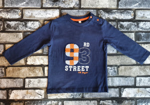 Birba Boys Navy Logo Long Sleeve Tee