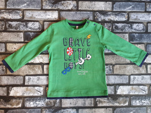 Birba Boys Green Long Sleeve Tee