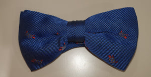 One Varone Boys Bow Tie - Navy With Turtle Motif