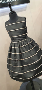 Alice Pi Black Dress with Gold Stripe