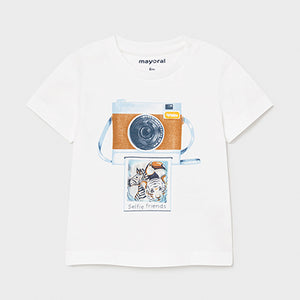 Mayoral PLAY WITH t-shirt with lens print for baby boy