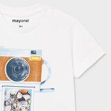 Load image into Gallery viewer, Mayoral PLAY WITH t-shirt with lens print for baby boy