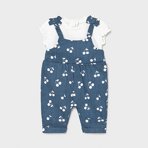 Mayoral Long dungarees for newborn girl
