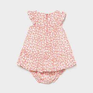 Mayoral Perforated print dress for newborn girl