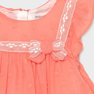 Mayoral Plumeti dress for newborn girl
