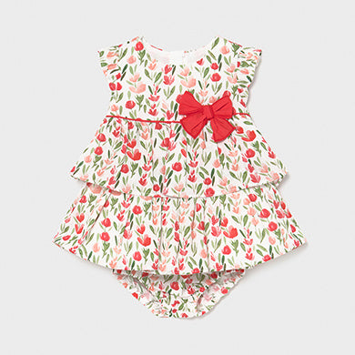 Mayoral Print dress for newborn girl