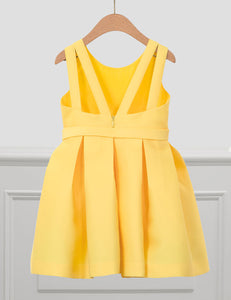 Abel & Lula JACQUARD PIQUÉ DRESS YELLOW