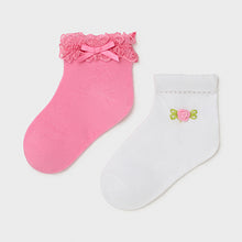 Load image into Gallery viewer, Mayoral Set of 2 socks baby girl