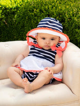 Load image into Gallery viewer, Patachou Girls Stripped Navy Jersey Hat