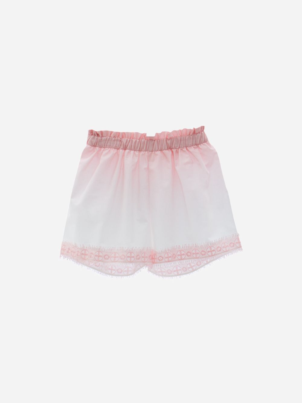Patachou Cotton Voile Shorts With Pink Degrade Print